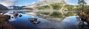 Картинки для стен Утро на озере Круглом в Кузнецком Алатау