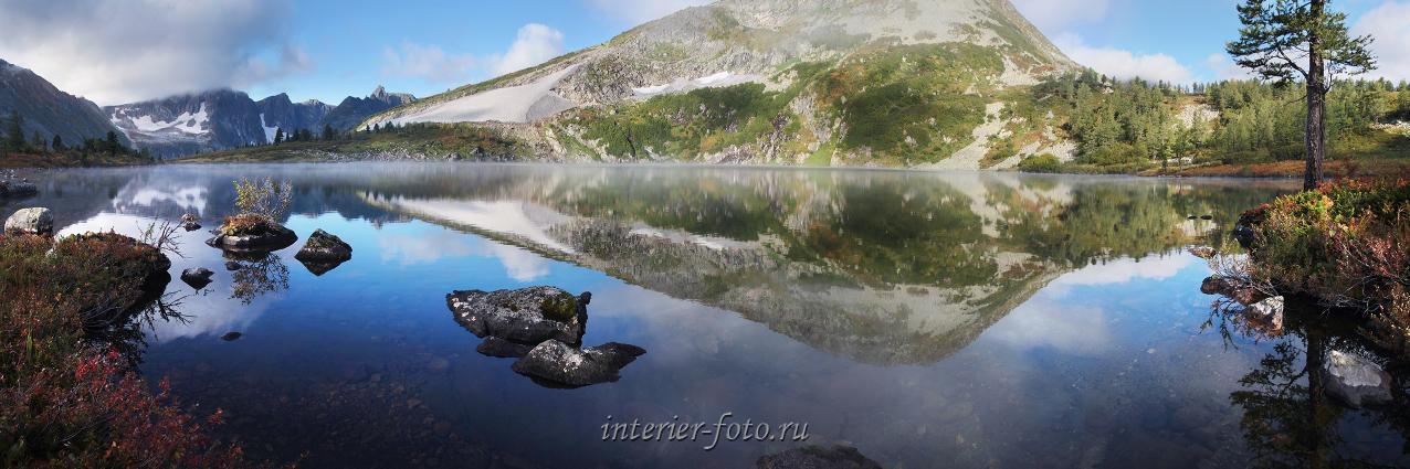 Утро на озере Круглом в Кузнецком Алатау