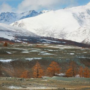 Вершины Монгольского Алтая - осень