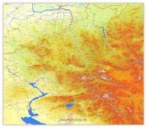 Настенная карта Алтая - interier-foto