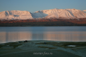 Рассвет на озере Хурган - Монголия