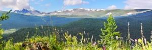 Гора Уч-Энмек - одна из вершин Теректинского хребта
