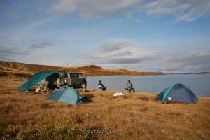 Лагерь на озере Хиндиктиг-Холь