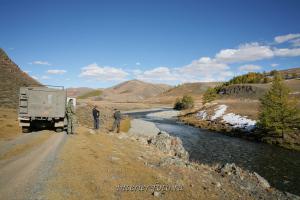 Остановка на реке Бугузун
