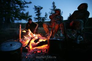 Вечерний костер - Монгун-Тайга