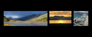 Горизонтальная композиция - панорама, альбомное фото и квадрат