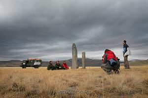 Каменные стелы на плато Укок