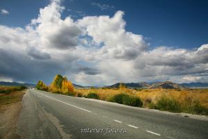 Осенняя дорога - Тува