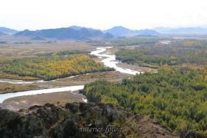 Лента реки Хемчик в Туве