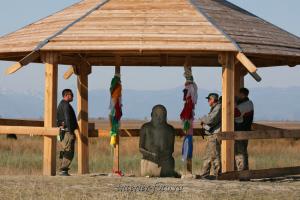 Каменное изваяние тюркского времени - Тува