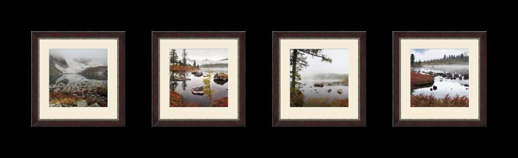 Классический полиптих из 4 фотографий горизонтального расположения в паспарту