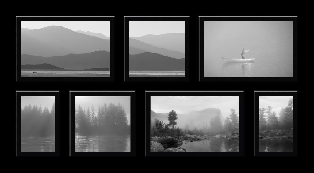Композиция из 7 фотографий разного формата