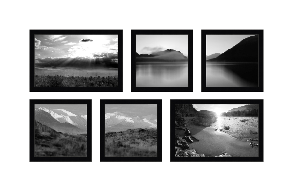 Композиция из 6 фотографий разного формата