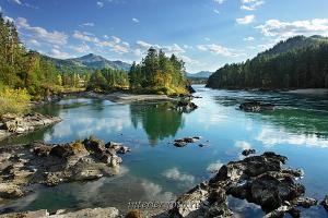 Пейзаж в интерьере Осенняя Катунь