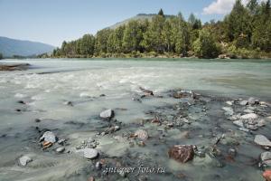 Впадение реки Аккем в Катунь - Алтай