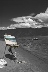 Живопись - берег Телецкого озера
