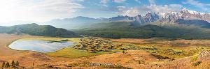 Панорама Озеро Джангысколь на Алтае