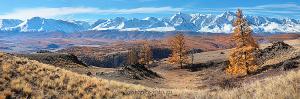 Пейзаж на стене Северо-Чуйский хребет осенью