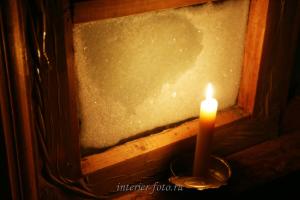 свеча в избушке