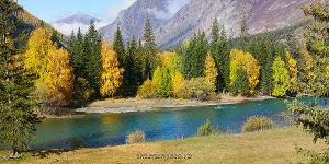 Панорамная фотография Алтай