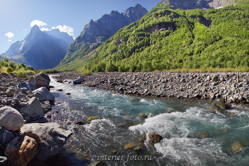 Река Домбай-Ульген