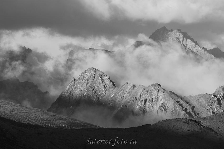 Непогода в горах Кавказа