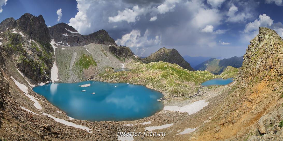 Софийские озера с перевала Иркиз