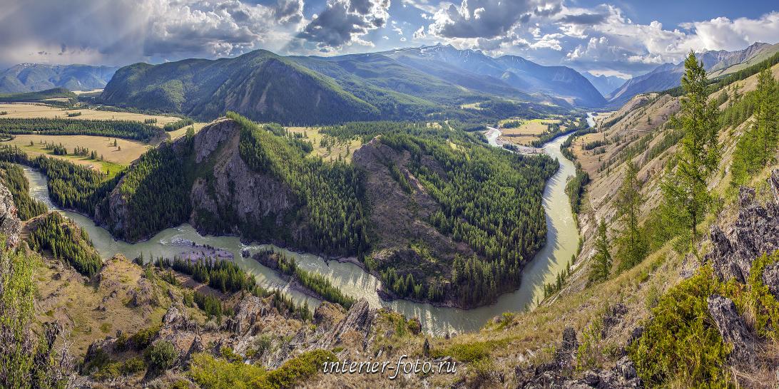 Панорама Изгибы реки Аргут
