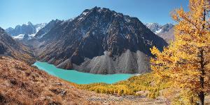 Шавлинское озеро сверху