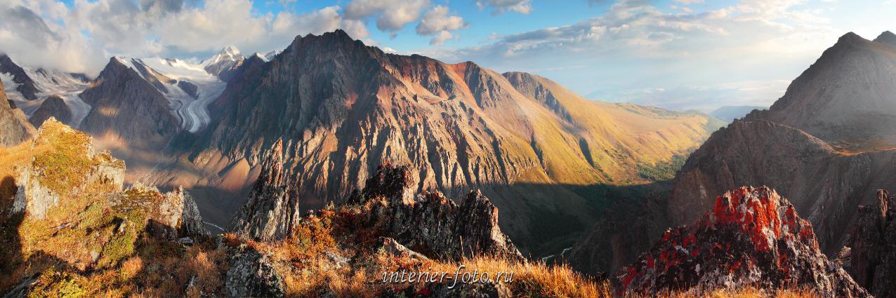 Панорамное фото Горы Актру