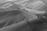 Черно-белое фото Горные склоны