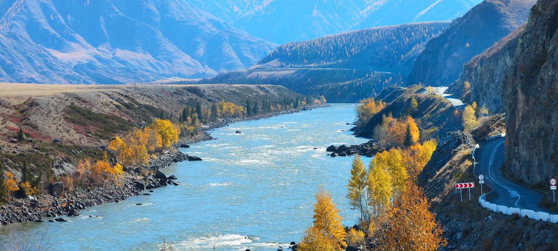 Бом Кур-Кечу осенью. Алтай (66012)