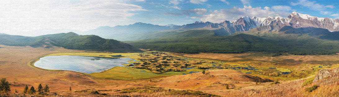 Фотографии на холсте Горы Алтая