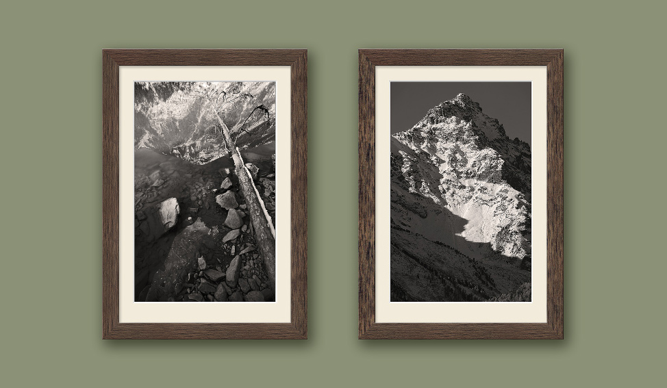 Фотографии пейзажей Диптих