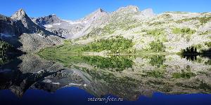 Панорама Крепкое озеро на Алтае
