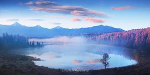 Фото картинки природы Панорама озера Киделю