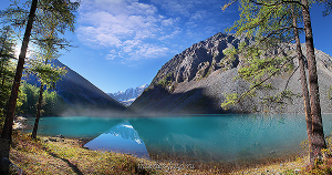 Панорама Шавлинского озера