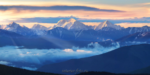 Рассвет пейзаж Гора Маашей Баш на рассвете