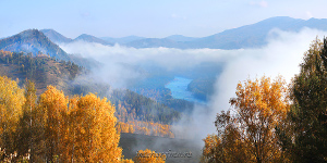 Настенное панно Осень на Бирюзовой Катуни