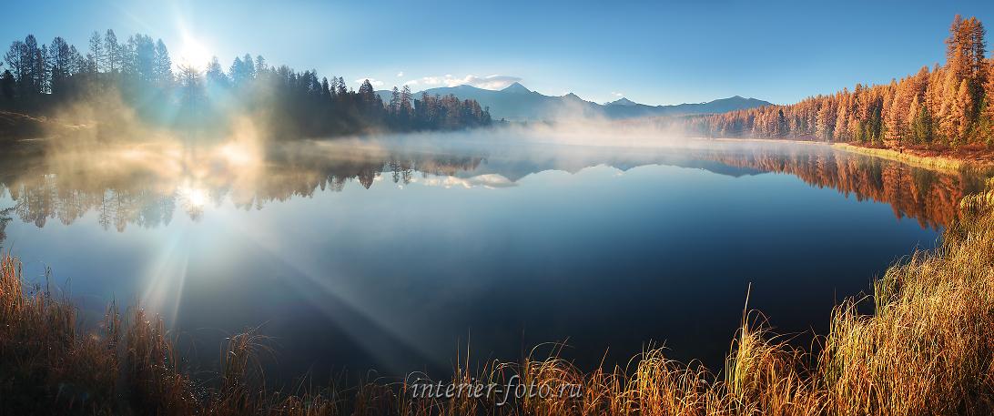 Рассвет пейзаж на озере