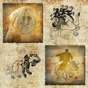 Панно пазырыкские татуировки Алтая