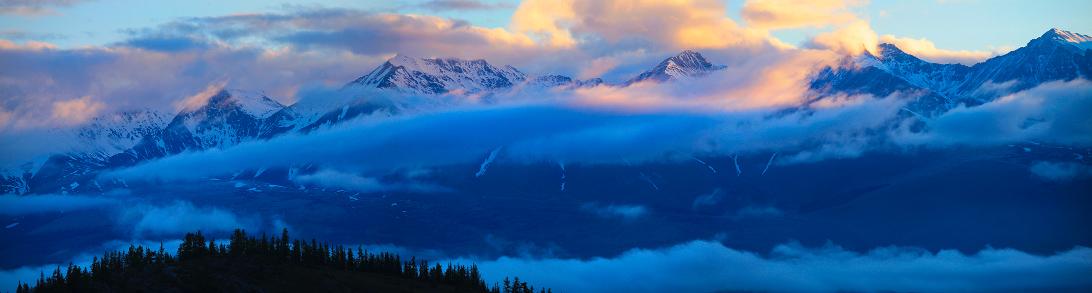 Утренний пейзаж Горы