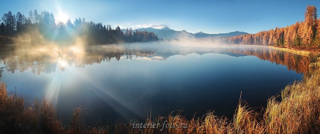 Утренний пейзаж Озеро