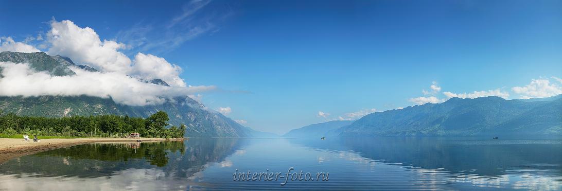 Утренний пейзаж Телецкое озеро