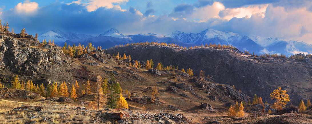 Закат в горах Курай