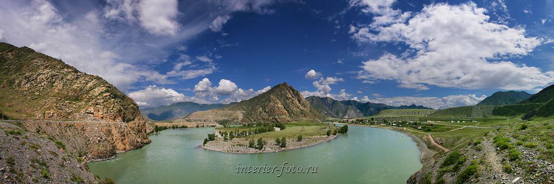 Живописная река Катунь